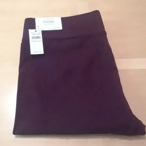 Burgundy Leggings Aerie NWT Size M